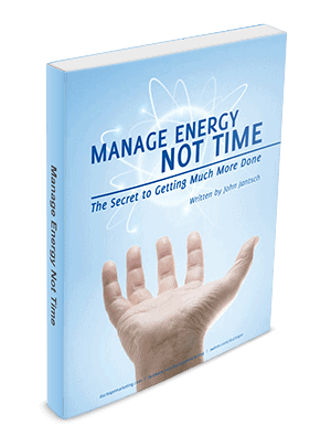 Manage Energy Not Time Cover