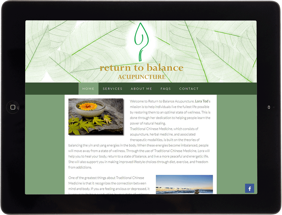 Return To Balance on Tablet
