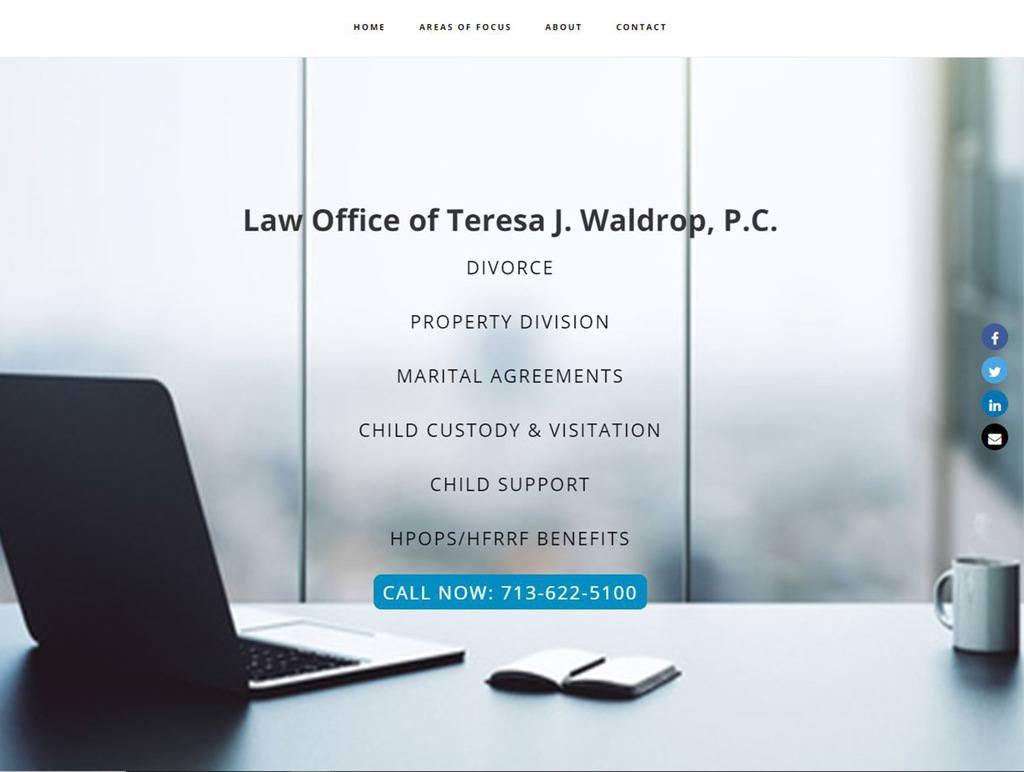 Waldrop Law Screen Shot
