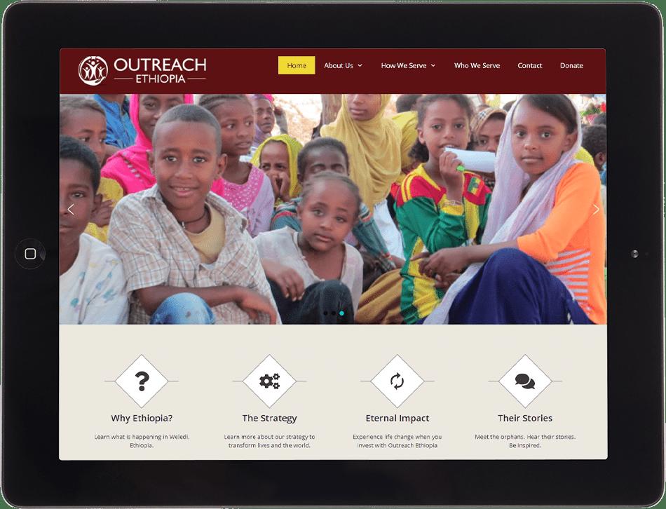 Outreach Ethiopia on Tablet